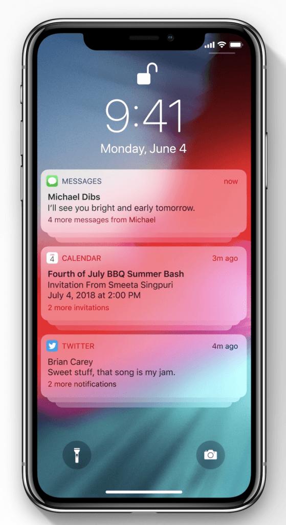 notifications apple