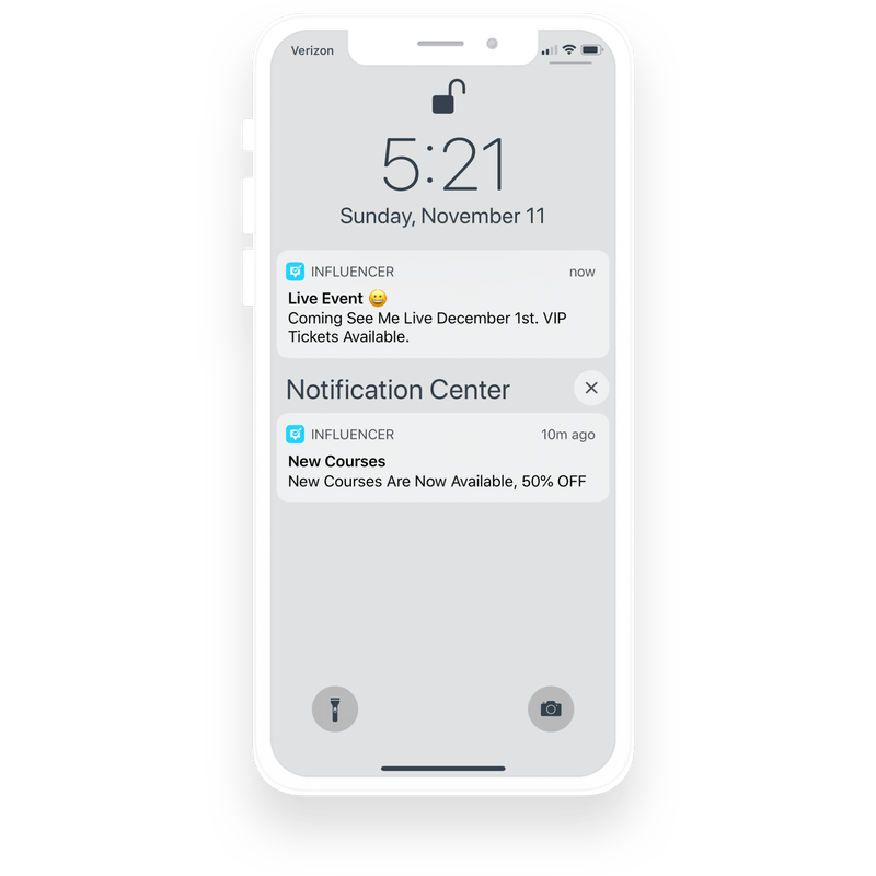 Push notification for blogger app.